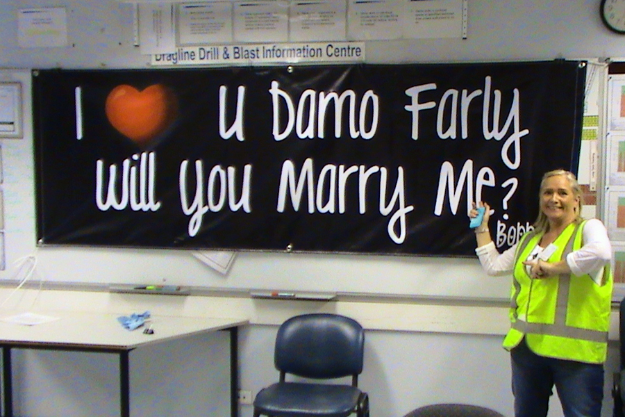 Will you marry me? Vinyl Banner Does the Job!