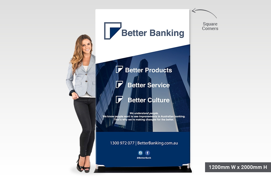 Stretch Fabric Display Stands with Square Corners