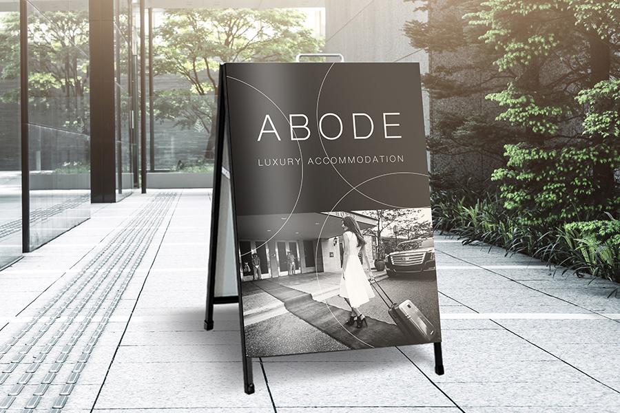 A-Frame with Full Colour Digital Print & Lamination