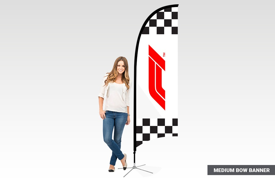 Medium Bow Banner Flag for Event Promotion