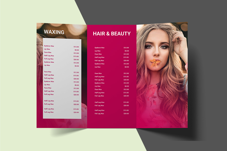 Full Colour Printed DL Trifold Brochures