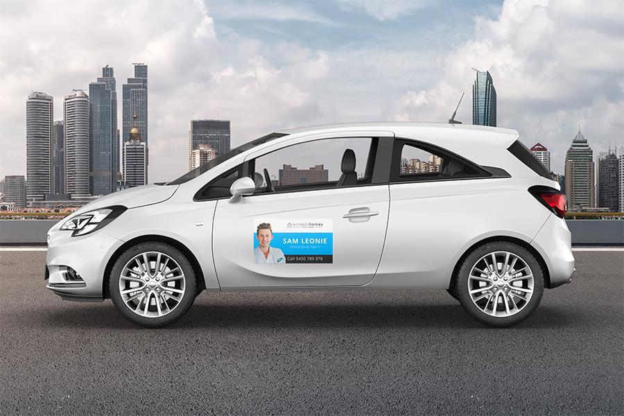 Car Magnets with Digital Print & Lamination