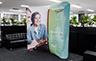 Curved Stretch Fabric Media Wall - 2200mm W x 2200mm H