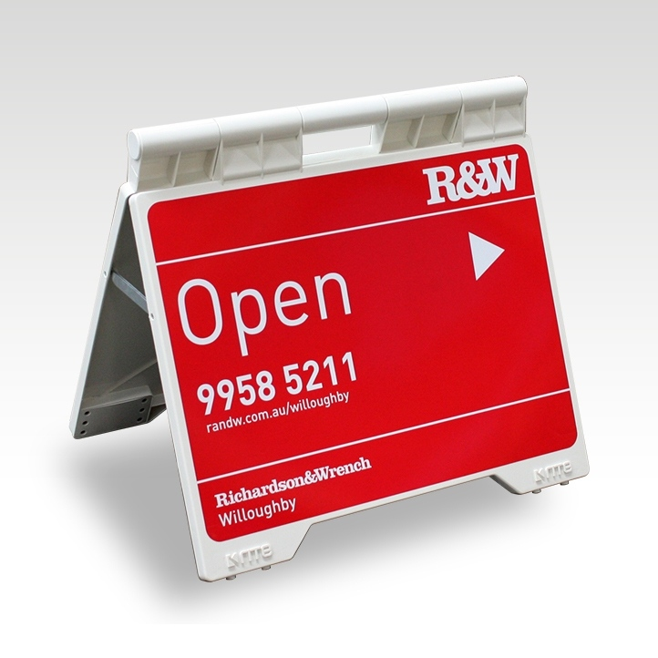 Evarite Real Estate A-Frame with Full Colour Digital Print & Lamination on Both Sides