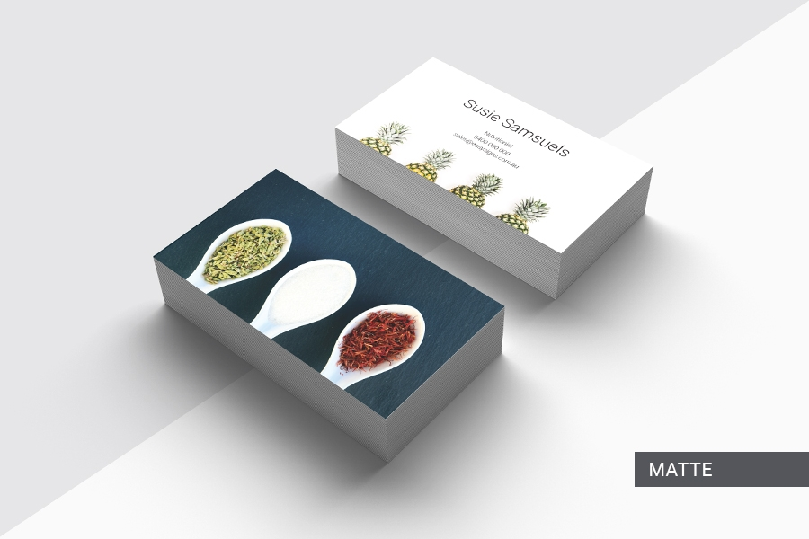 360gsm Premium Full Colour Double Sided Business Cards with Matte Lamination