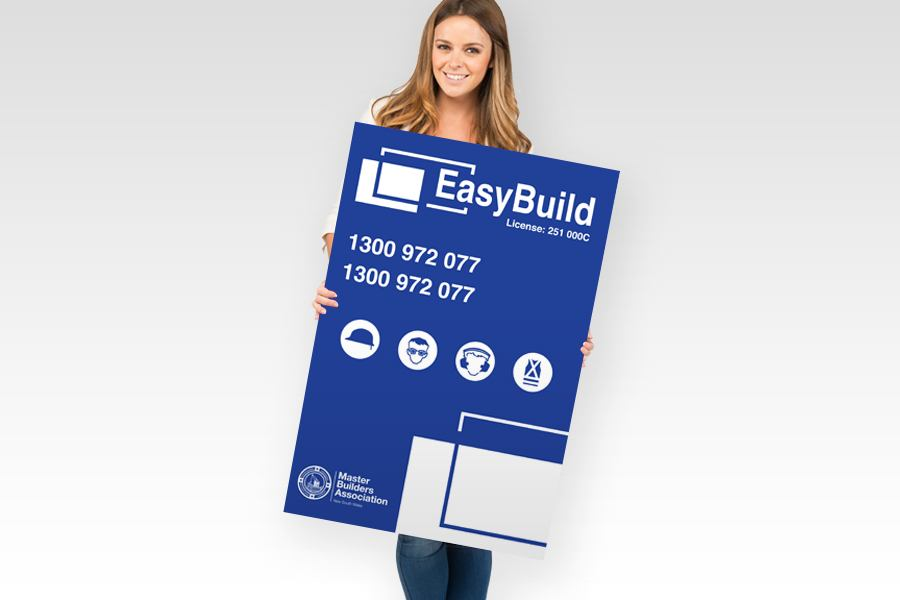 Signflute™ Corrugated Plastic Signs for Construction