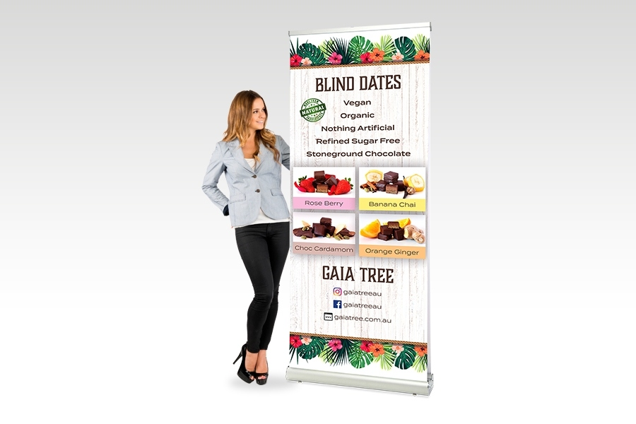 Double Sided Pull Up Banner - 850mm W x 20000mm H