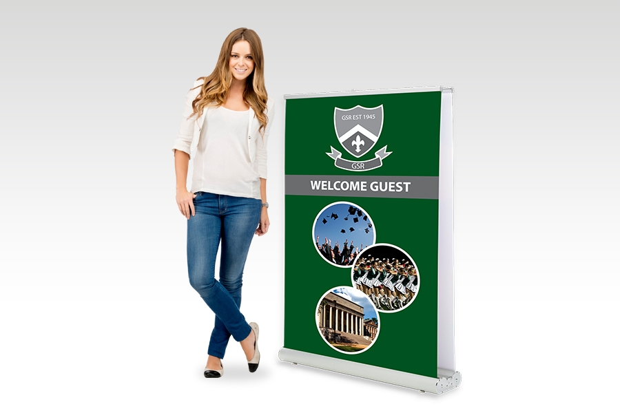 Double Sided Pull Up Banner - 1200mm W x 1500mm H