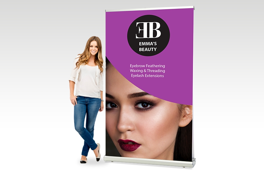 Double Sided Pull Up Banner - 1200mm w x 20000mm H