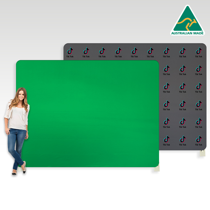 How do you select and use a Green Screen Chroma Key Backdrop?