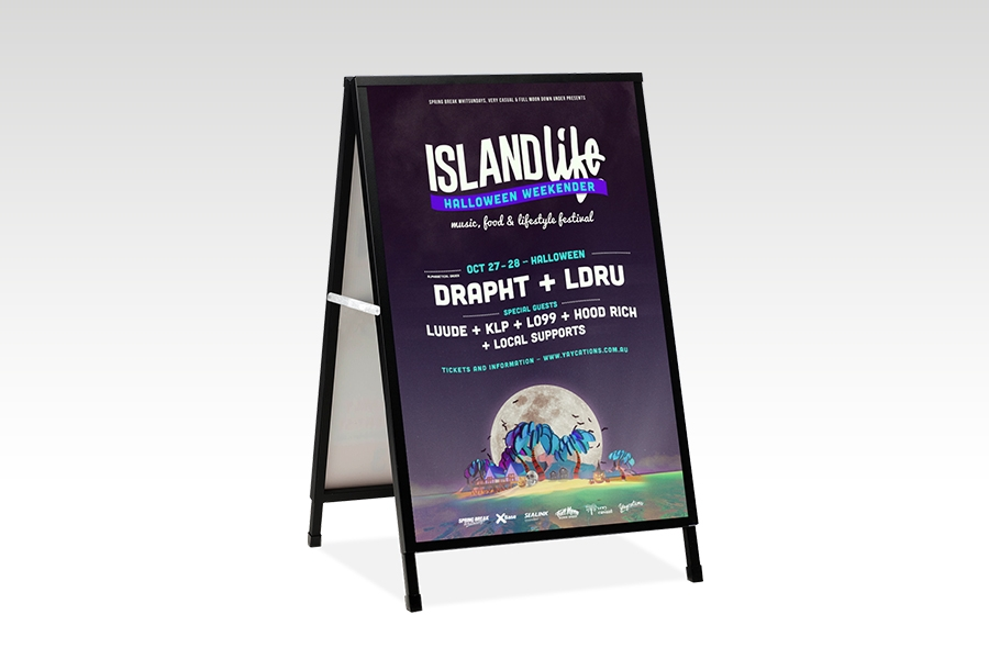 Signflute™ Insertable A-Frame Sandwich Board for Outdoor Advertising