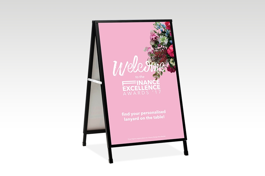 Signflute™ Insertable A-Frame Sandwich Board for Welcome Signage