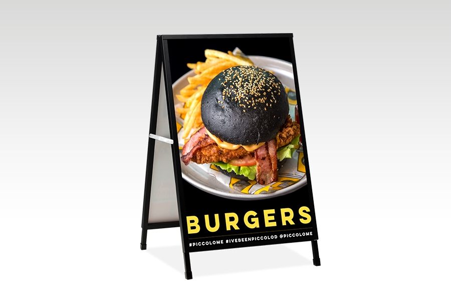 Signflute™ Insertable A-Frame Sandwich Board for Cafe Signage