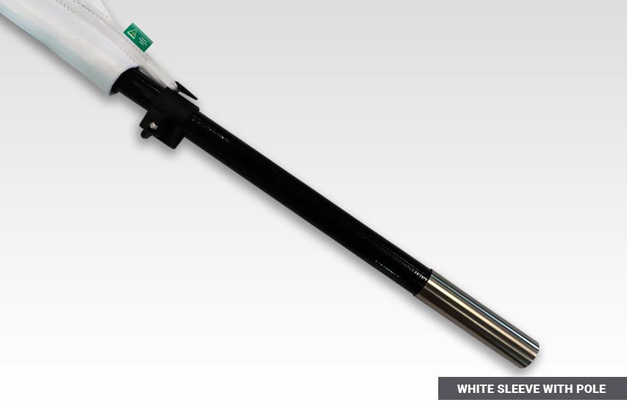 White Pole Set