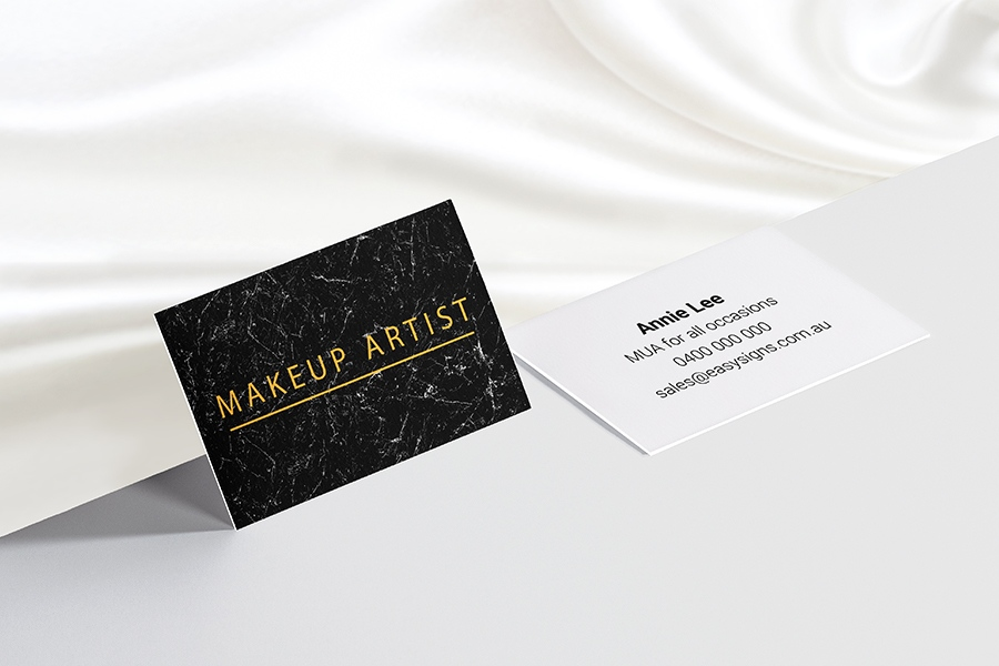 420gsm Luxury Full Colour Double Sided Business Cards with Velvet Soft Touch Lamination