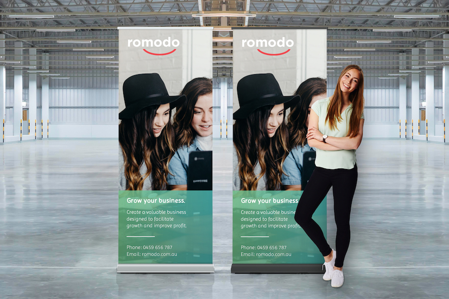 Luxury Pull Up Banner - 850mm W x 2000mm H