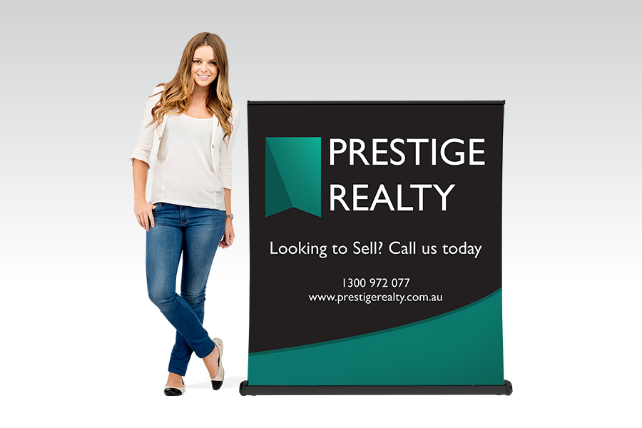 Luxury Pull Up Banner - 1200mm W x Shopping Centre H