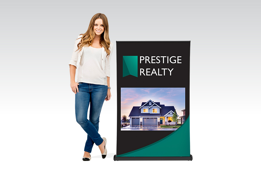 Luxury Pull Up Banner - 850mm W x Shopping Centre H