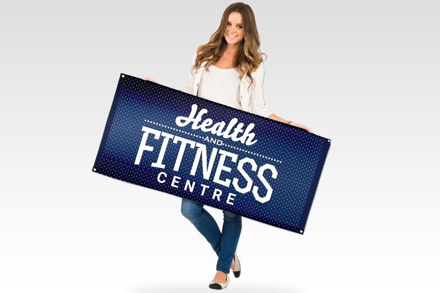 Fabric Mesh Banner for Fitness Signage