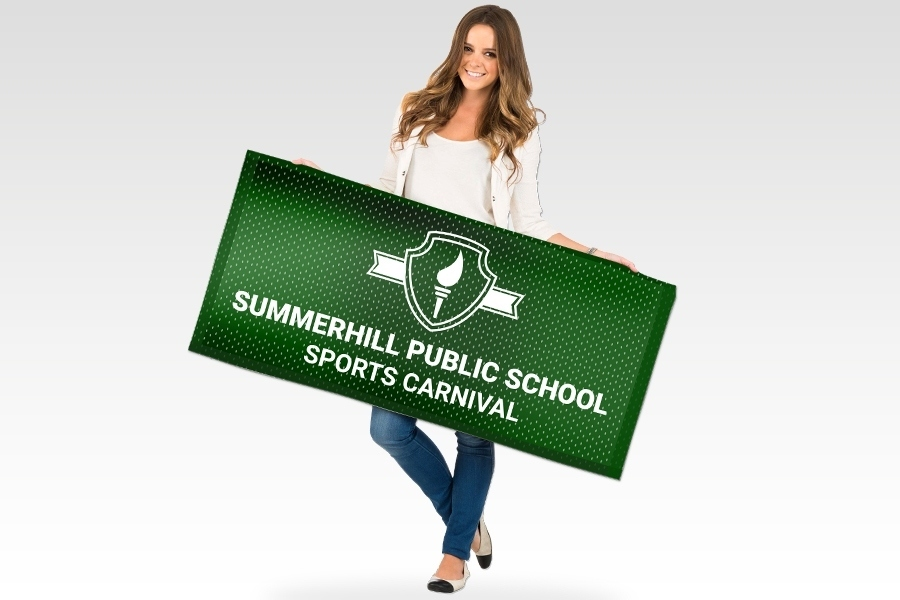 Fabric Mesh Banner for School Signage