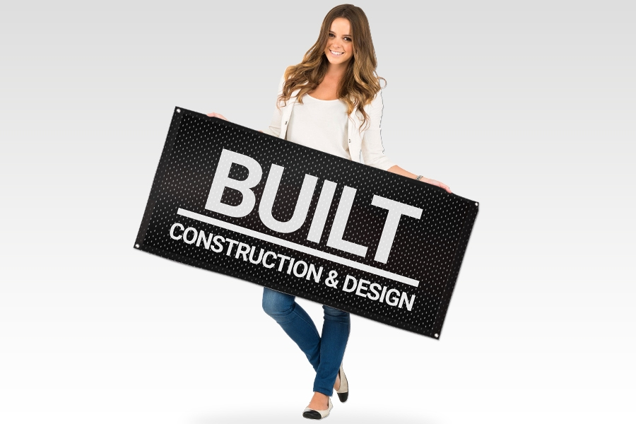 Fabric Mesh Banner for Construction Signage