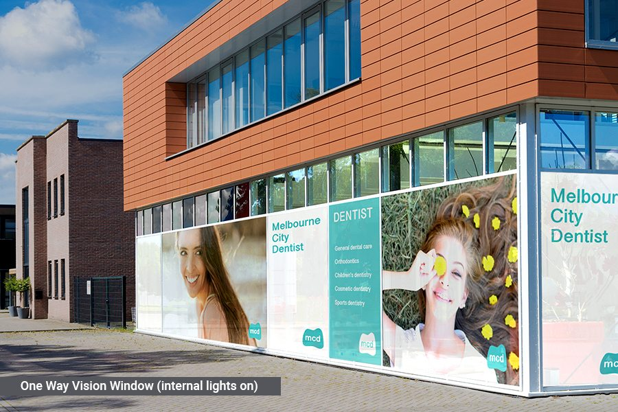 Digitally Printed One-Way Vision Window Graphic