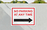 Parking Sign - Large 500mm W x 400mm H