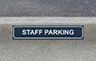 Parking Sign - Gutter Size 500mm W x 100mmH