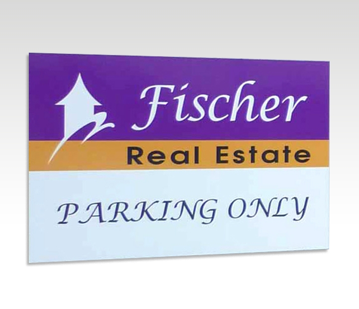 Parking Sign with Full Colour Digital Print & Lamination