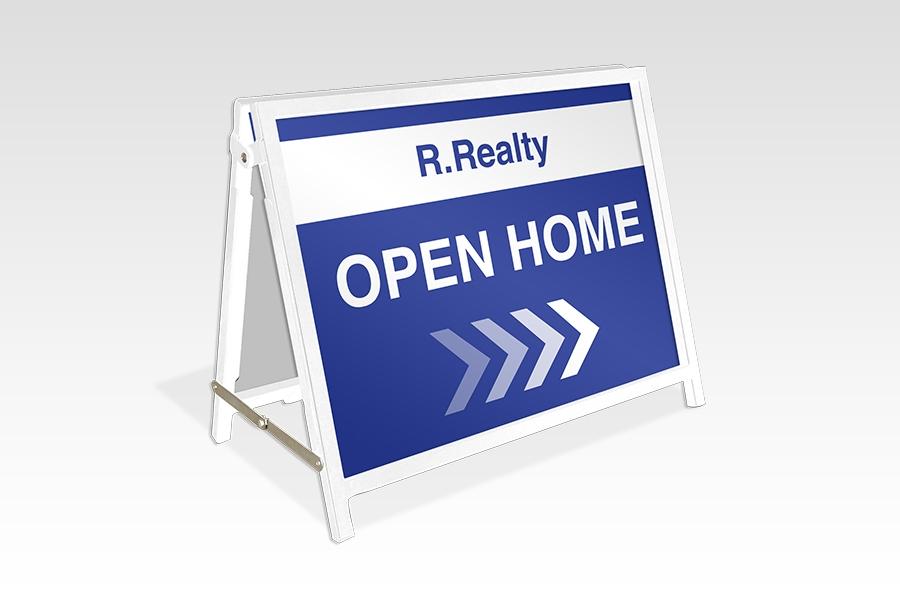 White Real Estate A-Frame