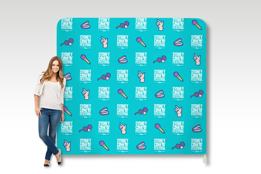 Stretch Fabric Media Wall Frame for Events