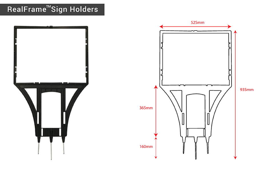 RealFrame Sign Holders