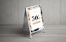 Changeable Snap A-frame Sandwich board