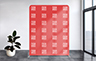 Straight Stretch Fabric Media Wall - 1500mm W x 2200mm H