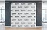 Straight Stretch Fabric Media Wall - 2000mm W x 2200mm H