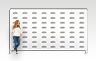 Straight Stretch Fabric Media Wall - 4000mm W x 2210mm H