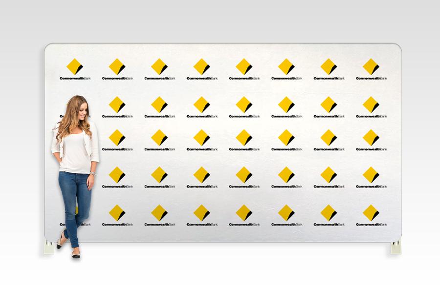 Straight Stretch Media Wall 3980mm W x 2210mm H