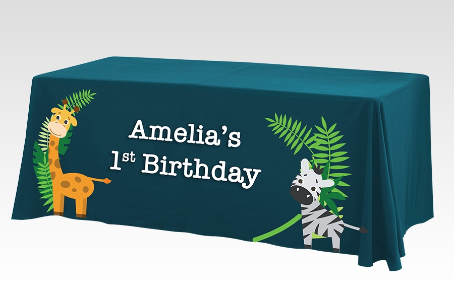 Loose Table Throws for Birthday Parties