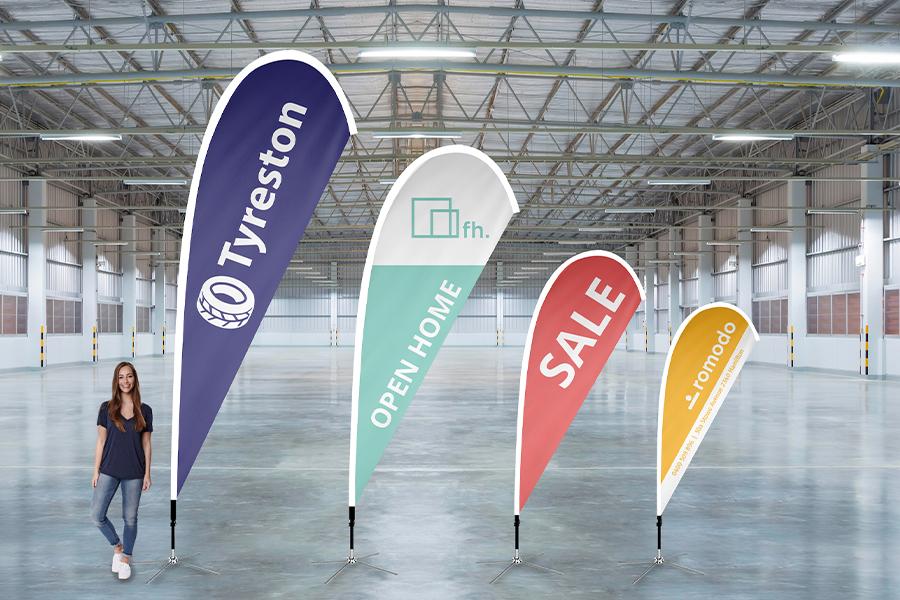 Teardrop Banners - All Sizes - White Sleeve