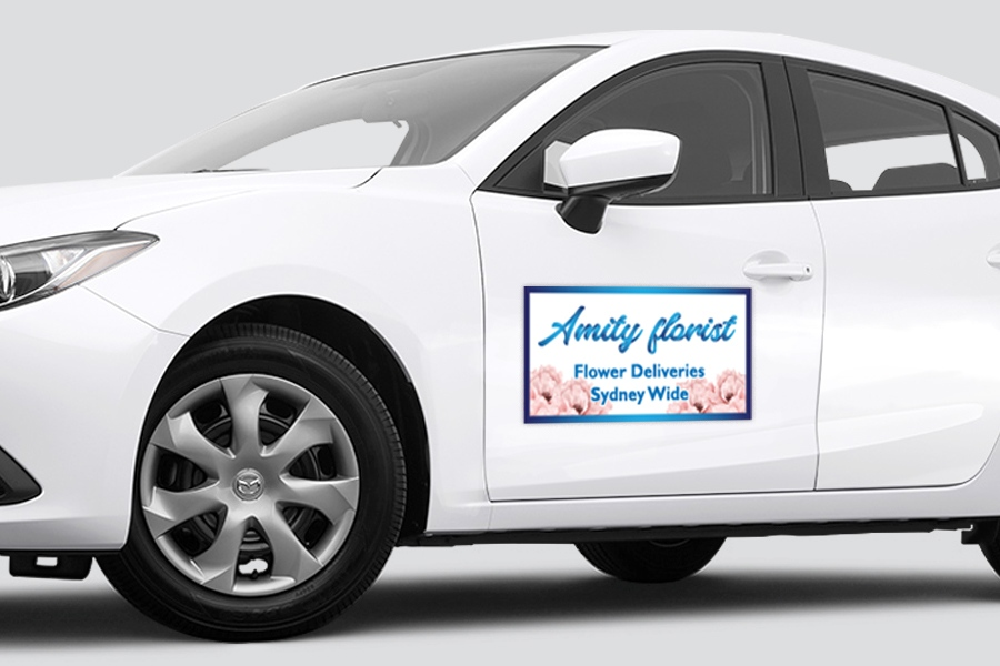 Car Magnets with Digital Print & Lamination