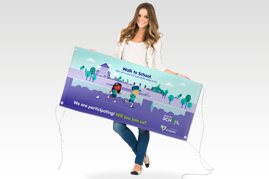 photograph regarding Making a Printable Banner referred to as Vinyl Banners