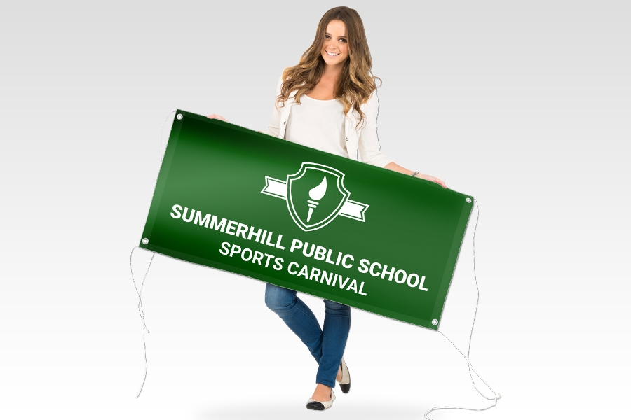 Outdoor Vinyl Banner with Full Colour Print for School Events