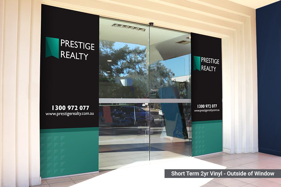 Short Term Window Graphics for Real Estate