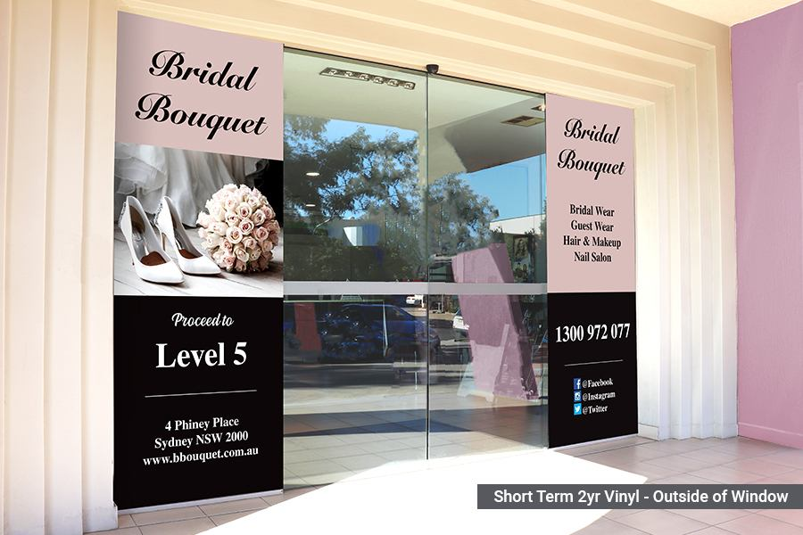 Short Term Window Graphics for Businesses