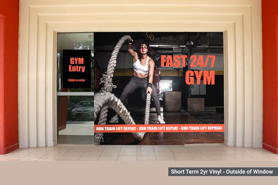 Short Term Window Graphics for Gym
