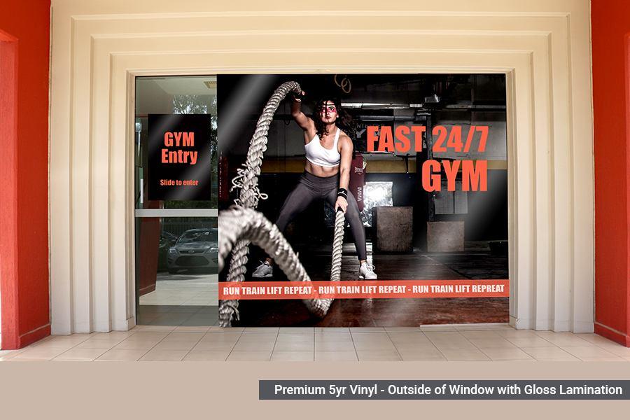 Premium Window Graphics for Gym
