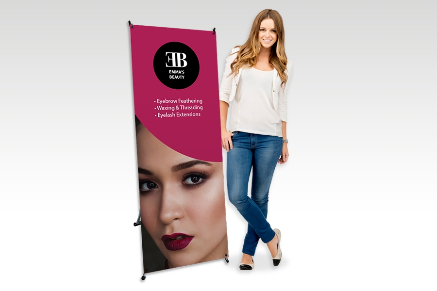 X Banner Stand with Full Colour Print for Small Business Signage