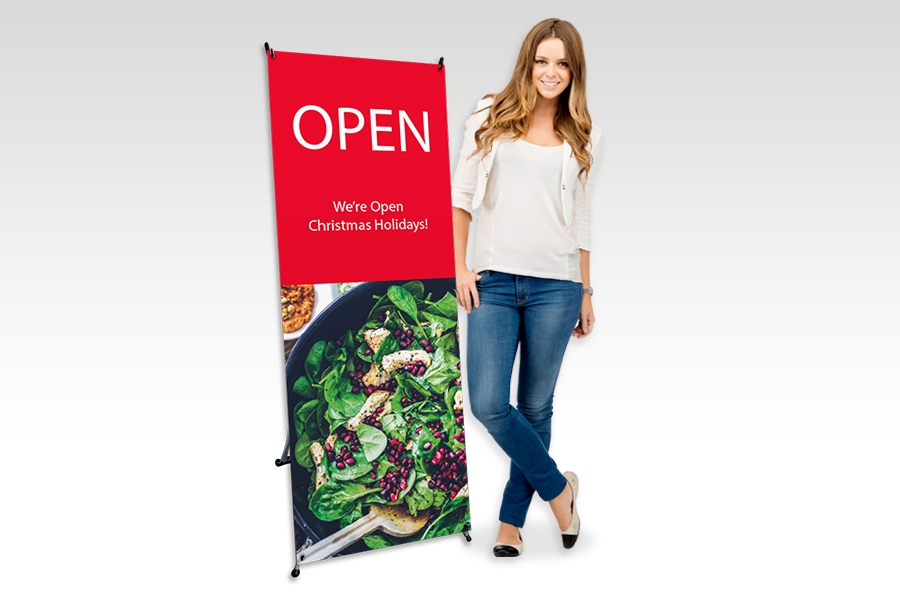 X Banner Stand with Full Colour Print for Hospitality Signage