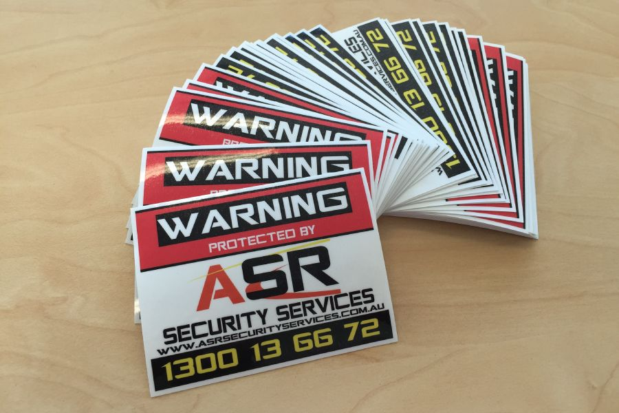 Custom Stickers for Warning Labels