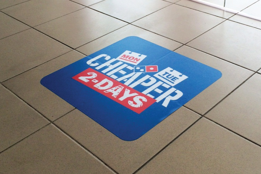 Floor graphics printed in 24 hours easy signs for Floor stickers